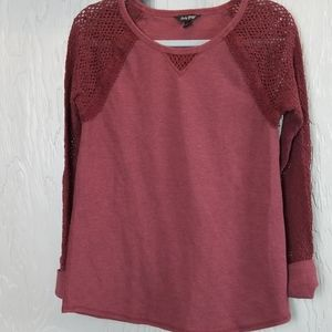 LUCKY BRAND thermal with knitted sleeves